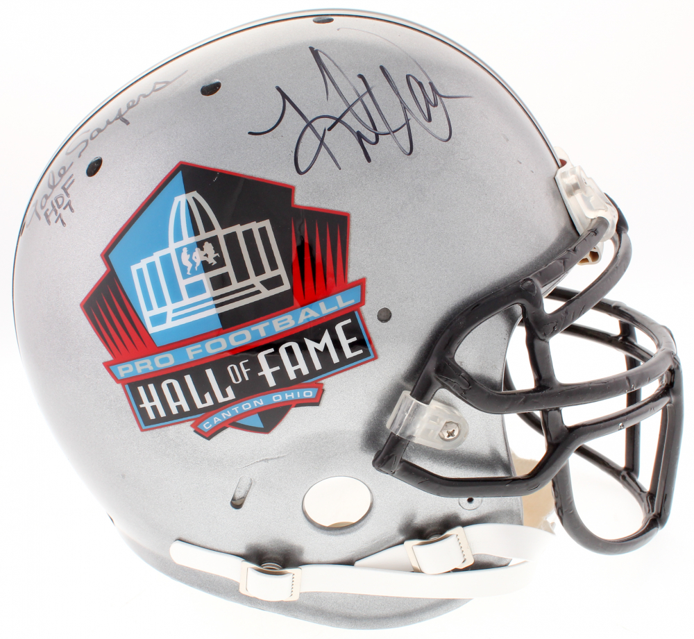 dadb29d96 Hall of Fame Full-Size Authentic On-Field Helmet Signed By (4) with Gale  Sayers, Eric Dickerson, Jim Kelly, & Kurt Warner (JSA COA)