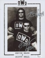 Kevin Nash & Scott Hall Signed 8x10 Photo (JSA COA)