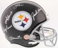 """Steelers """"Defensive Greats"""" Full-Size Authentic On-Field Helmet Signed By (5) With Joe Greene, Jack Ham, Mel Blount (Radtke COA) at PristineAuction.com"""