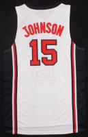 Magic Johnson Signed Team USA Jersey (PSA COA)