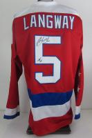"Rod Langway Signed Capitals Jersey Inscribed ""HOF 02"" (JSA COA)"