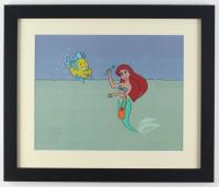 "Walt Disney's ""The Little Mermaid"" 16x19 Custom Framed Hand-Painted Animation Serigraph Display"