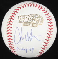 "Kevin Millar Signed Official 2004 World Series Baseball Inscribed ""Cowboy Up!"" (JSA COA) at PristineAuction.com"