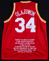 Hakeem Olajuwon Signed Rockets Career Achievement Jersey (JSA COA)