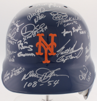 1986 Mets Authentic On-Field Helmet Team-Signed by (28) with Bud Harrelson, Ed Lynch, Ed Hearn, Darryl Strawberry, Dwight Gooden (Steiner COA & Steiner LOA)