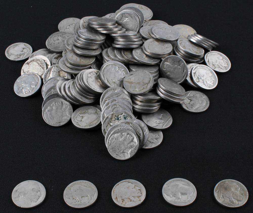 Lot of (200) Buffalo Nickels at PristineAuction.com