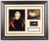 Andrew Jackson Custom Framed 19.5x23.5 Display with (1) Hand-Written Word From Letter (JSA LOA Copy)