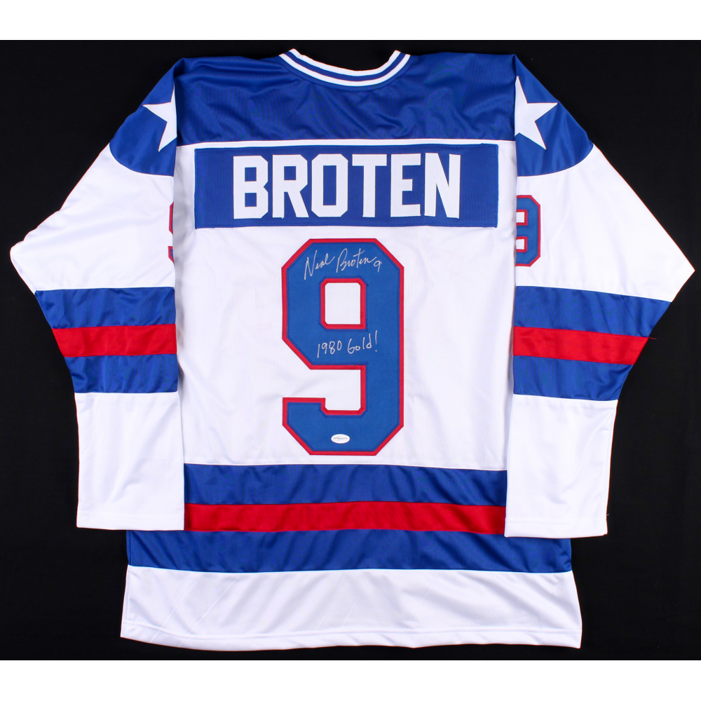 Neal Broten Signed Team USA