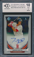 2014 Bowman Chrome Prospect Autographs #BCAPMB Mookie Betts (BCCG 10)