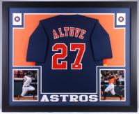 Jose Altuve Signed Astros 35x43 Custom Framed Jersey (JSA COA)