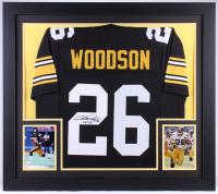 """Rod Woodson Signed Steelers 31.5x35.5 Custom Framed Jersey Inscribed """"HOF 09"""" (JSA COA) at PristineAuction.com"""