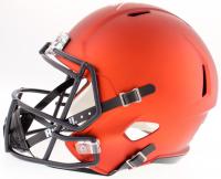 """Brian Urlacher Signed Bears Full-Size Custom Matte Orange Speed Helmet Inscribed """"HOF 2018"""" (JSA COA) at PristineAuction.com"""