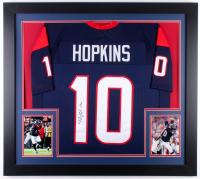 DeAndre Hopkins Signed Texans 31x35 Custom Framed Jersey (JSA COA)