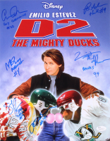 """""""D2: The Mighty Ducks"""" 11x14 Photo Signed by (6) with Brandon Adams, Scott Whyte, Elden Henson with (5) Inscriptions (JSA COA)"""