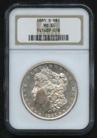 1881-S Morgan Silver Dollar (NGC MS 65)