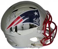 Josh Gordon Signed Patriots Full-Size Chrome Speed Helmet (JSA COA) at PristineAuction.com