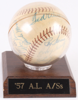 1957 American League All-Star Team Baseball Team-Signed by (24) With Ted Williams, Yogi Berra, Early Wynn, Nellie Fox, Jim Bunning, George Kell, Al Kaline, Mickey Mantle (JSA LOA)