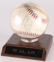 1995 American League All-Star Team Game Logo Baseball Team-Signed by (25) With Frank Thomas, Cal Ripken Jr., Wade Boggs, Kirby Puckett, Albert Belle, Tino Martinez, Mo Vaughn, Edgar Martinez (JSA LOA)
