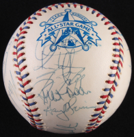 1995 American League All-Star Game Baseball Team-Signed by (25) with Frank Thomas, Cal Ripken Jr., Wade Boggs, Kirby Puckett, Albert Belle, Tino Martinez, Mo Vaughn, Edgar Martinez (JSA LOA) (See Description) at PristineAuction.com
