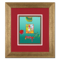 """Peter Max Signed """"Profile Series"""" 20x23 Custom Framed One-Of-A-Kind Acrylic Mixed Media"""
