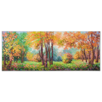 "Alexander Antanenka Signed ""Last Days Of Summer"" 60x24 Original Oil Painting on Canvas at PristineAuction.com"