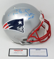 "Tom Brady Signed LE Patriots Full-Size Authentic On-Field Helmet Inscribed ""17 NFL MVP""  (Steiner COA & TriStar Hologram) at PristineAuction.com"