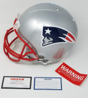 """Tom Brady Signed LE Patriots Full-Size Authentic On-Field Helmet Inscribed """"17 NFL MVP""""  (Steiner COA & TriStar Hologram) at PristineAuction.com"""