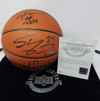 """Allen Iverson & Shaquille O'Neal Signed Limited Edition Basketball Inscribed """"HOF 2K16"""" (UDA COA) at PristineAuction.com"""
