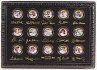 Baseball Legends Set of (15) 24K Gold Plated & Colorized State Quarters with Babe Ruth, Ted Williams, Jackie Robinson, Ty Cobb, Lou Gehrig