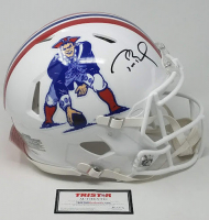 Tom Brady Signed New England Patriots Limited Edition Throwback Full-Size Authentic On-Field Speed Helmet (Tristar Hologram)