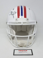 Tom Brady Signed New England Patriots Limited Edition Throwback Full-Size Authentic On-Field Speed Helmet (Tristar Hologram) at PristineAuction.com