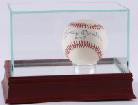"Mickey Mantle Signed OAL Baseball Inscribed ""No. 7"" with High-Quality Display Case (PSA LOA)"