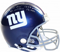 "Odell Beckham Jr. Signed Giants LE Full-Size Authentic On-Field Helmet Inscribed ""2014 ROY"", ""1305 yrds"", ""91 Catches"" & ""12 TDs"" (Steiner COA) at PristineAuction.com"