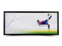 "Lionel Messi Signed Barcelona ""The Show"" 20x46 Custom Framed Photo (UDA COA)"