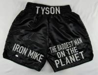 Mike Tyson Signed Boxing Trunks (JSA Hologram)