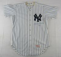 "Mickey Mantle Signed Yankees Jersey Inscribed ""No. 7"" (JSA LOA)"