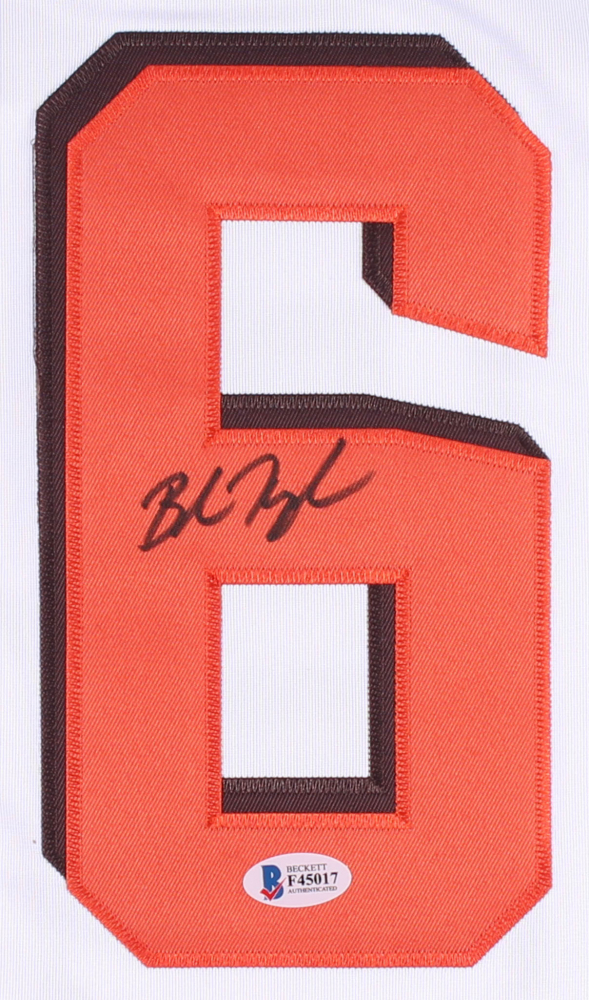8770383e0 Baker Mayfield Signed Browns Jersey (Beckett COA) at PristineAuction.com