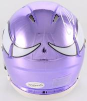 Xavier Rhodes Signed Vikings Chrome Speed Mini-Helmet (TSE COA) at PristineAuction.com
