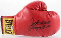 """Jake LaMotta Signed Everlast Boxing Glove Inscribed """"Raging Bull"""" (Beckett COA)"""