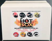 Official HOT BOX Full Size Football Helmet Mystery Box