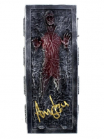 "Harrison Ford Signed ""Star Wars: Return Of The Jedi"" Han Solo 3x7 Encased In Carbonite Mini Replica (Radtke COA) at PristineAuction.com"