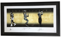 Muhammad Ali, Michael Jordan & Tiger Woods Signed  LE 25x49 'Legends of Sport' Custom Framed Lithograph Display (UDA COA)