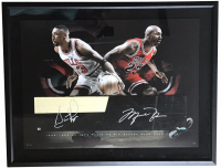 Michael Jordan & Scottie Pippen Signed Chicago Bulls 24x26 Custom Framed LE Game Used Floor Piece Display (UDA COA)