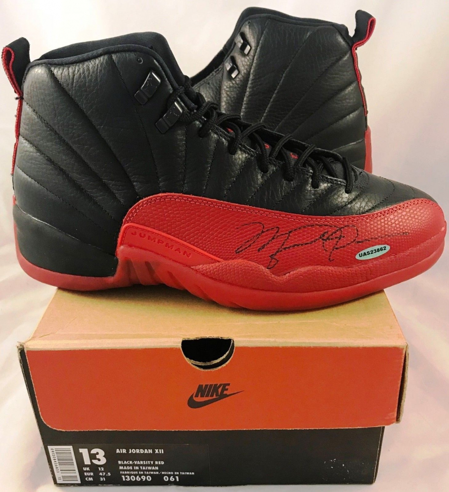 35dea0971bc9 Michael Jordan Signed Air Jordan 12 Basketball Shoes (UDA COA) at  PristineAuction.com