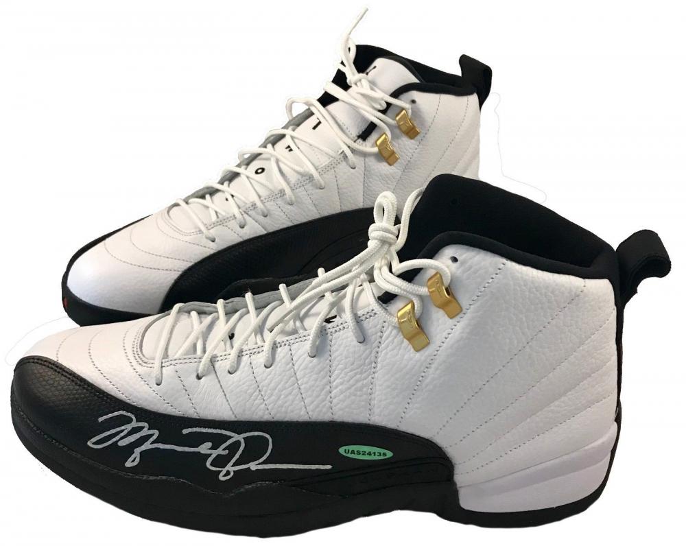 96176496de3 Michael Jordan Signed Air Jordan 12 Retro Basketball Shoes (UDA COA) at  PristineAuction.