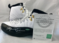 Michael Jordan Signed Air Jordan 12 Retro Basketball Shoes (UDA COA) at PristineAuction.com