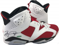 Michael Jordan Signed Air Jordan 6 Retro Basketball Shoes (UDA COA)
