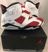 Michael Jordan Signed Air Jordan 6 Retro Basketball Shoes (UDA COA) at PristineAuction.com