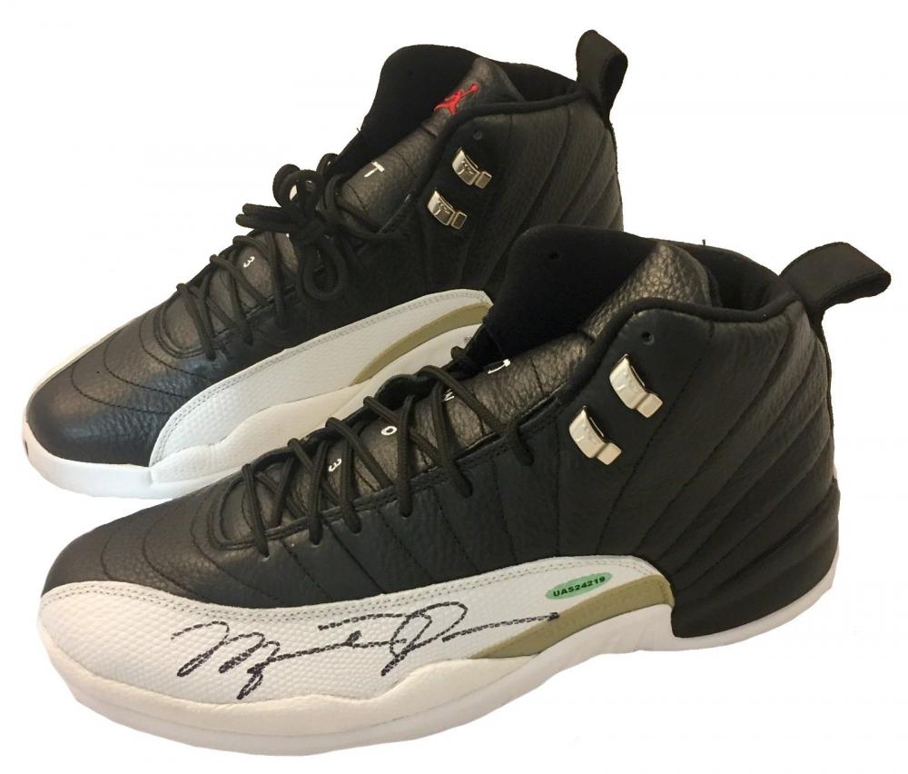 8e38cf1c407e Michael Jordan Signed Air Jordan 12 Retro Basketball Shoes (UDA COA) at  PristineAuction.