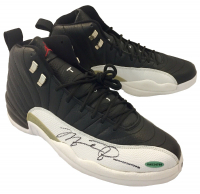 Michael Jordan Signed Air Jordan 12 Retro Basketball Shoes (UDA COA) at PristineAuction.com